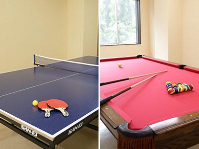 卓球&ビリヤードルーム