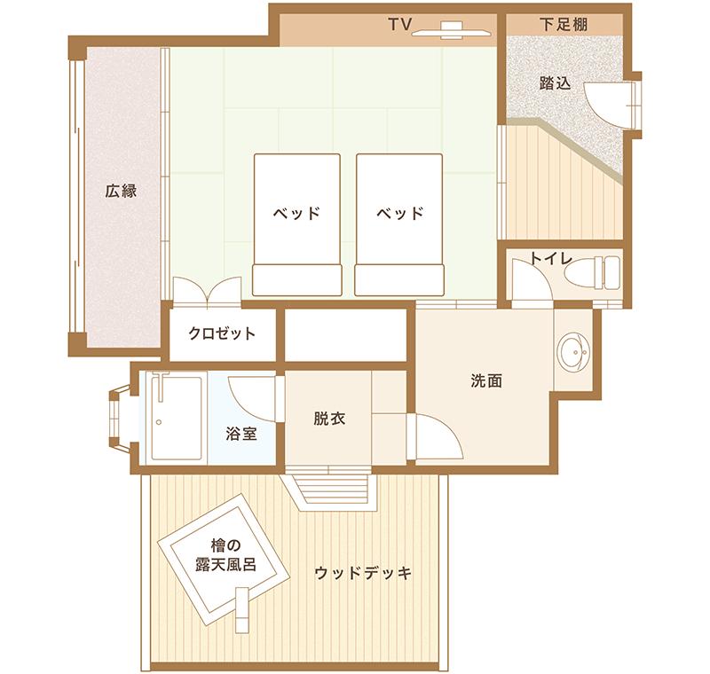 花たちばな館136号室平面図