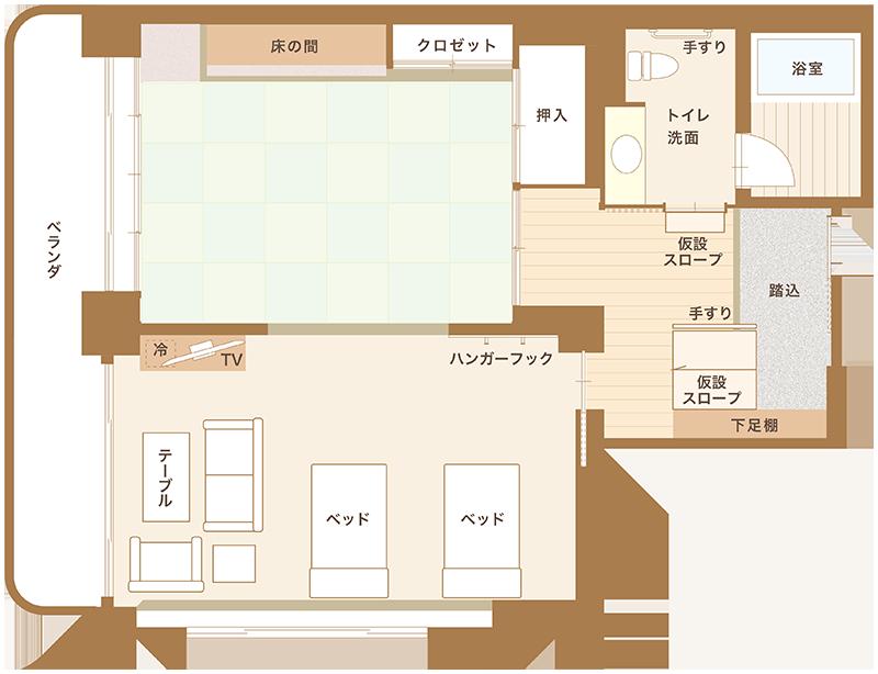 特別室平面図