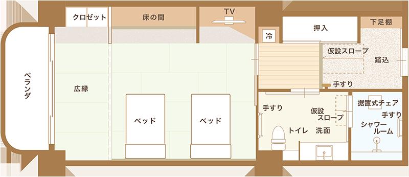 和洋室平面図