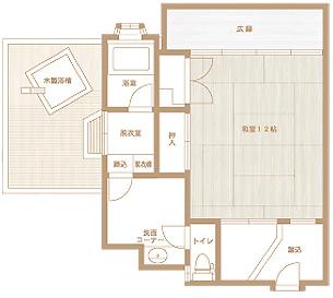 【露天風呂付】花たちばな館136号室